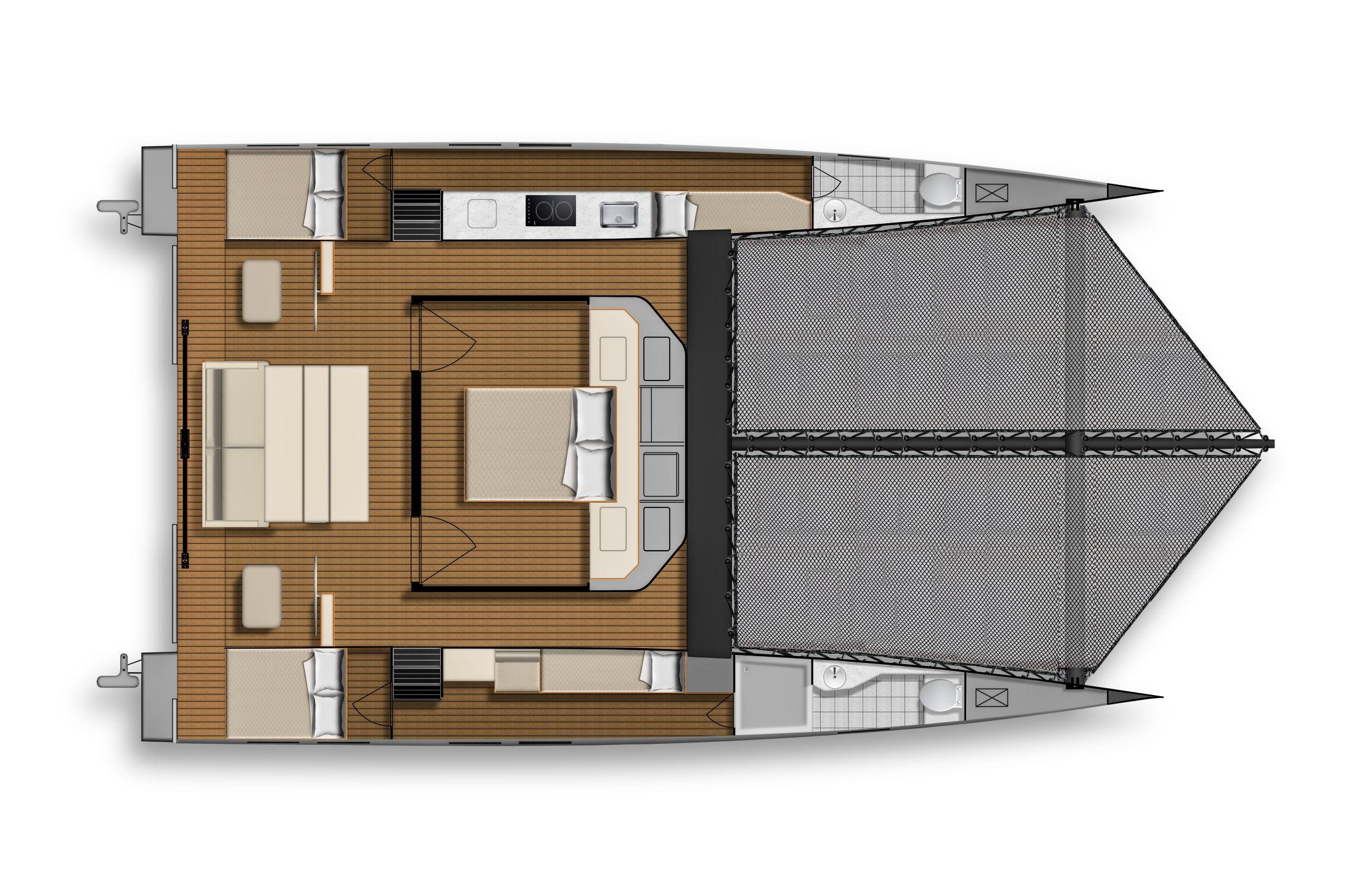 ESC40 Interior Layout Main Cabin Bed