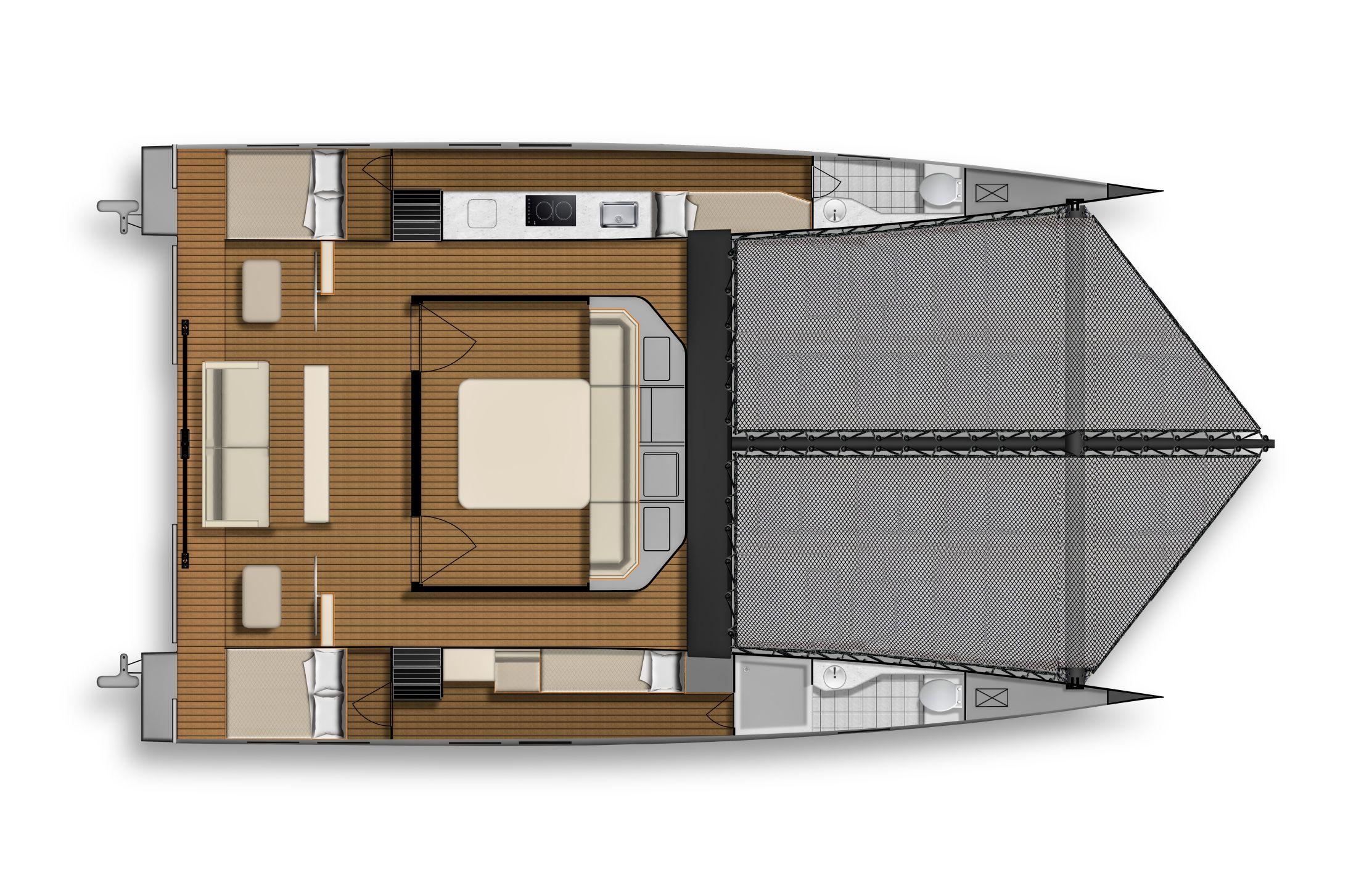 ESC40 Interior Layout Main Cabin Table